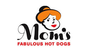 Mom's Fabulous Hot Dogs Logo