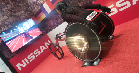 Nissan Innovation Station Olympic Wheelchair racing London 2015 The o2